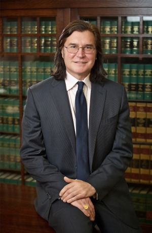Attorney Todd Peterson at his Portland office.